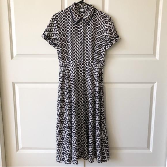 DKNY Donna Karan NY 100% Silk Star Dress/10